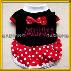 Small Dog Clothes,Disney Costume Minnie Mouse Dress,670