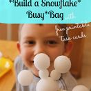 Build a Snowflake Busy Bag {Fine Motor Friday} For Snowflake Bentley and Katie and the big snow.