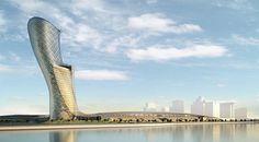 Torre mas inclinada del mundo... 18° de inclinación equivalente a 4 veces más que la torre Pissa en Italia.