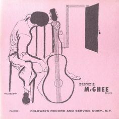 Smithsonian Folkways - Brownie McGhee Blues - Brownie McGhee Vinyl Cover, Cover Art, David Stone, William Christopher, Blues, Big Sea, Album Design, Folk Music, Tower Records