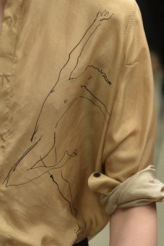 wgsn:  Dries Van Noten's nude dancer prints were done in collaboration with illustrator Richard Haines