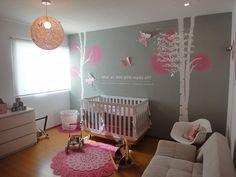 Modern Girl Nursery - modern - bedroom - miami - by Lullaby Wall Decor