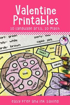 """I love to use holiday themed worksheets in my classroom. Sometimes it just makes it feel more """"fun"""". These math and language arts worksheets are perfect for your first grade students. There are 10 math and 10 language arts. Your students will color, cut &"""