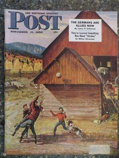 Saturday Evening Post Magazine  November 11,1950  John Clymer  VINTAGE ADS