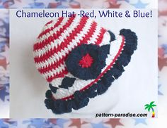 The July Chameleon Hat has a decidedly patriotic flair. I'm introducing it a bit early so that you'll have time to get a couple of them whipped up in time for July 4th. Please click here to add this pattern to your favorites  & queue on Ravelry This month's Chameleon Hat is aptly named Red, WhiteRead more