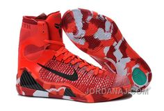 new style 66551 70f36 ... the cheap authentic kobe ix elite christmas bright crimson black white  shoes factory store are aweso
