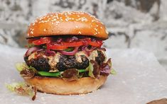 A modern way to cook a hearty vegetarian burger