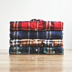 Steamer Plaid Cotton Flannel Shirts by DQM