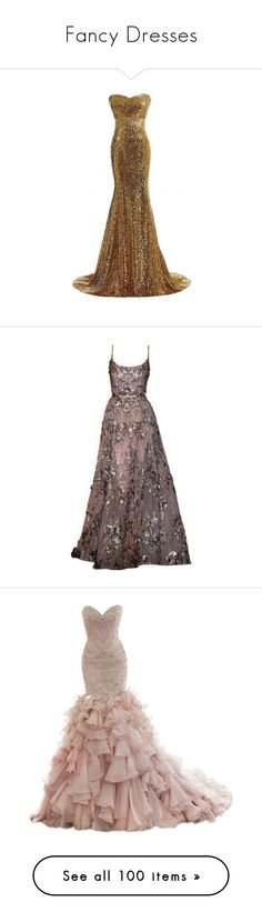 """Fancy Dresses"" by cheyleexox ❤ liked on Polyvore featuring dresses, gowns, slim prom dresses, off-the-shoulder dresses, sequin embellished dress, slimming dresses, white off the shoulder dress, satinee, doll clothes and elie saab"