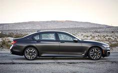Download wallpapers BMW M760Li, xDrive, 2017, BMW G12, luxury sedan, black matte M7, business class, German cars, 4k, BMW