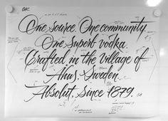 Absolut Vodka - calligraphy for new bottle restiling - corrections on final design | Flickr - Photo Sharing!
