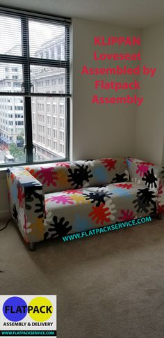 KLIPPAN Loveseat, Mattsbo Multicolor Article Number: 992.846.36 Assembled  By Flatpack Assembly 240