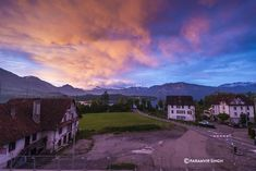 Magical painting like morning greeted us at Lucerne, Switzerland. Never seen such colourful skies in the morning...