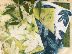 """Jennifer Love on Instagram: """"I did some monoprinting on my gel plate yesterday using leaves as masks. So many different variations possible. We will be experimenting…"""" Gelli Plate Printing, Jennifer Love, Plant Leaves, Masks, Plates, Prints, Instagram, Licence Plates, Dishes"""