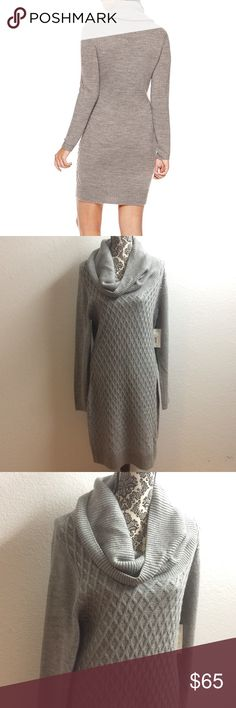 💥SALE A.N.A chunky sweater dress Sleeve Length: Long Sleeve Dress Length: Mid Length Fabric Content: 100% Acrylic Fabric Description: Knit Care: Machine Wash Country of Origin: Imported color is gray die is XL a.n.a Dresses Long Sleeve