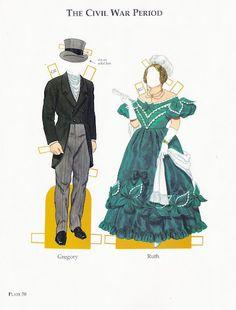 American Family of the Civil War Era | Gabi's Paper Dolls