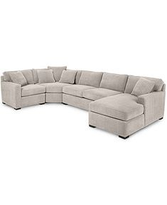 Radley Fabric 4-Piece Chaise Modular Sectional Sofa: Custom Colors - Sectional Sofas - Furniture - Macy's