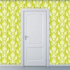 Removable Wallpaper  Damask Me For Crystal in by WallpaperDolls, $90.00