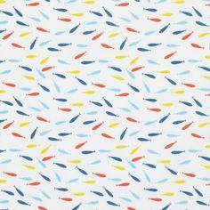 Tissu coton petits poissons - Mondial Tissus [Doublure, vêtements coton, etc]