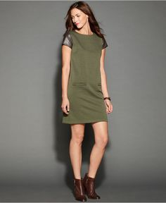 Tommy Hilfiger Dress, Short-Sleeve Mixed-Media - Dresses - Women - Macy's