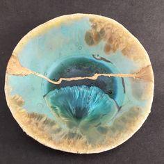 Monica Grez Papel clay , cristal glaze, kitsugui