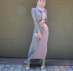 Discover recipes, home ideas, style inspiration and other ideas to try. Islamic Fashion, Muslim Fashion, Modest Fashion, Hijab Fashion, Girl Fashion, Fashion Outfits, Hijab Dress, Hijab Outfit, Modest Dresses