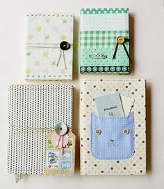 The cutest DIY fabric journals