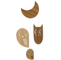 Petit collage Owl mobile