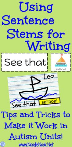 Struggling with writing for students with AAC devices? Read how Sentence Stems can help by using AAC and Sentence Stems with Predictable Chart Writing!