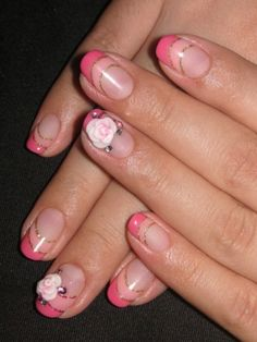 One nail art style that will never be dethroned is the French manicure, but if you wish to give a certain 'je ne sais quoi' to your French mani, try different variations of the style by choosing a colored tip French manicure or by adding various acrylic details or glitter on the classic design. Lace insertions are also super popular when it comes to glam party looking nails.  http://www.becomegorgeous.com