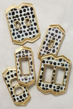 A polka dot switch plate to totally ~switch~ up your space even if you don't have room for new furniture or decor. Just 35 Attractive Things That'll Help Make Your Home Look Good...Really Good #YellowHomeAccessories Home Design, Interior Design, Interior Decorating, Decorating Ideas, Diy Design, Design Ideas, Home Hardware, Furniture Hardware, W 6