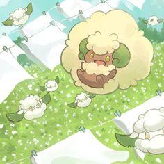 Cottonee and Whimsicott by Raityu Pokemon Comics, All Pokemon, Pokemon Fan Art, Cute Pokemon, Pokemon Fusion, Pokemon Images, Pokemon Pictures, Emboar Pokemon, Pokemon Party