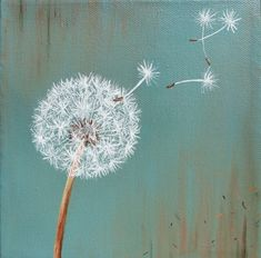 """Dandelion Dandelion - """"Lion's tooth"""" From Middle French """"dent de lion"""", literally """"lion's tooth"""" (from its toothed leaves) Dandelion Painting, Diy Painting, Painting & Drawing, Dandelion Drawing, Diy Canvas, Canvas Art, Canvas Paintings, Dandelion Pictures, Painting Inspiration"""