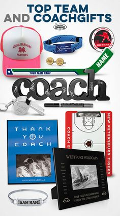 Thank your coach for all of their hard work and dedication this year, plus reward your team with a great, successful season! Check out some of our best team and coach gifts for your sport!