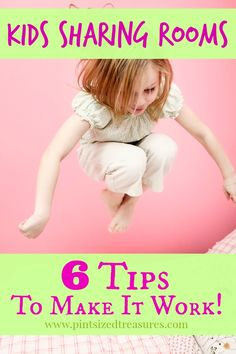 Are you planning on your kids sharing rooms in the near future? Here are six tips that will make the transition a happy one for mom and kiddos! #sharingrooms #kids #parenting