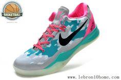 cheap for discount d2f57 7d36c Nike Zoom Kobe 8 Gris Vert Pink Noir
