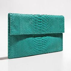 Green with envy for this snake print purse.