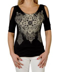 This Black Celtic Cool Cutout Top - Women & Plus by Liberty Wear is perfect! #zulilyfinds
