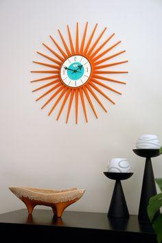 Sunburst Clock | Spartus | via Mid-Centuria