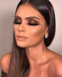 Step by Step Makeup - Professional Makeup - Party Makeup - Wedding Makeup . Glam Makeup Look, Gorgeous Makeup, Love Makeup, Makeup Inspo, Party Makeup, Bridal Makeup, Wedding Makeup, Makeup Goals, Makeup Tips