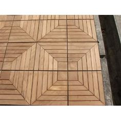 Charming Teak Patio Flooring   You Can Get Other Woodish Tiles That Snap Together