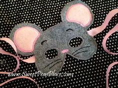 Mouse Mask in the hoop Applique Embroidery Designhttp://www.sweetpeasplace.com/