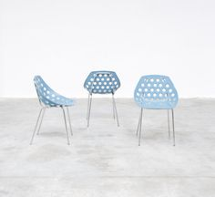 3 chairs by Pierre Guariche for Meurop