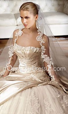 Elegant gold wedding dress