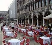 A great place for lunch..an outdoor cafe a St. Mark's Square in Venice
