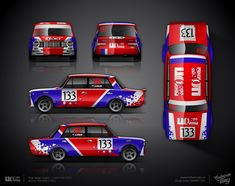 The approved design of racing livery