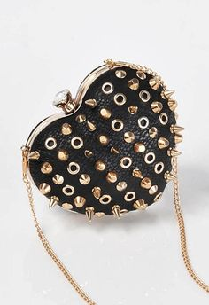 studded heart purse