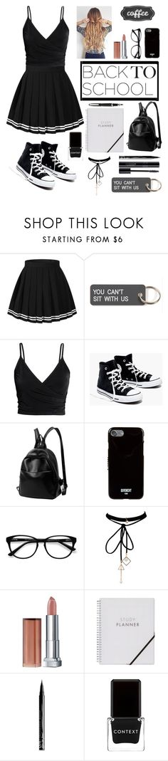 """""""back to school. #Contest!"""" by rumaisa-hadia ❤ liked on Polyvore featuring Various Projects, Madewell, Givenchy, EyeBuyDirect.com, WithChic, Maybelline, NYX and Context"""