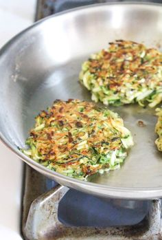 Zucchini Fritters. no egg, but would have to figure out amount of gluten free flour to sub.