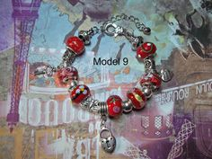 Elegant Metal Bracelet with fimo, metal and glass #beads, unique and not reproducible.   Look at the pictures to select the desired model before purchase. If the photo is no... #handmade #bracelets #charms #charm #christal #gift #christmas #love #girlfriend